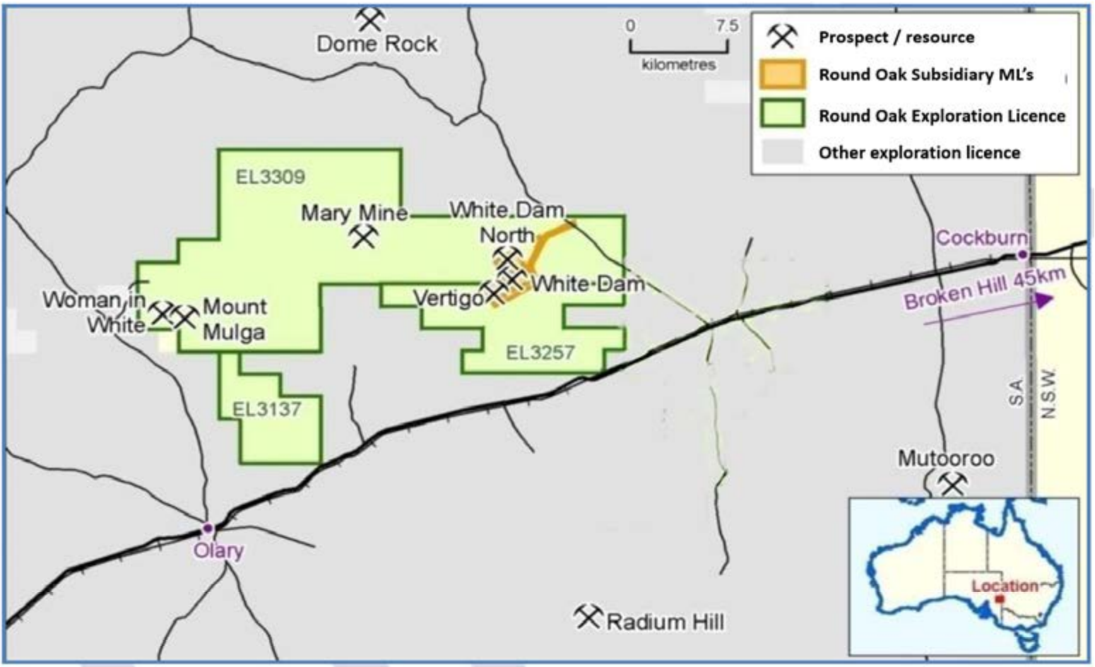Figure: Location map of the White Dam Gold Operation